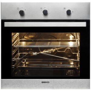 Beko Cuptor incorporabil gaz Beko OIG22102X 60 litri, grill, rotisor, Inox