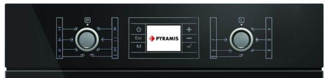 Control Cuptor electric incorporabil Pyramis 60IN 1012, Grill, Touch, LCD, Clasa A, Sticla neagra